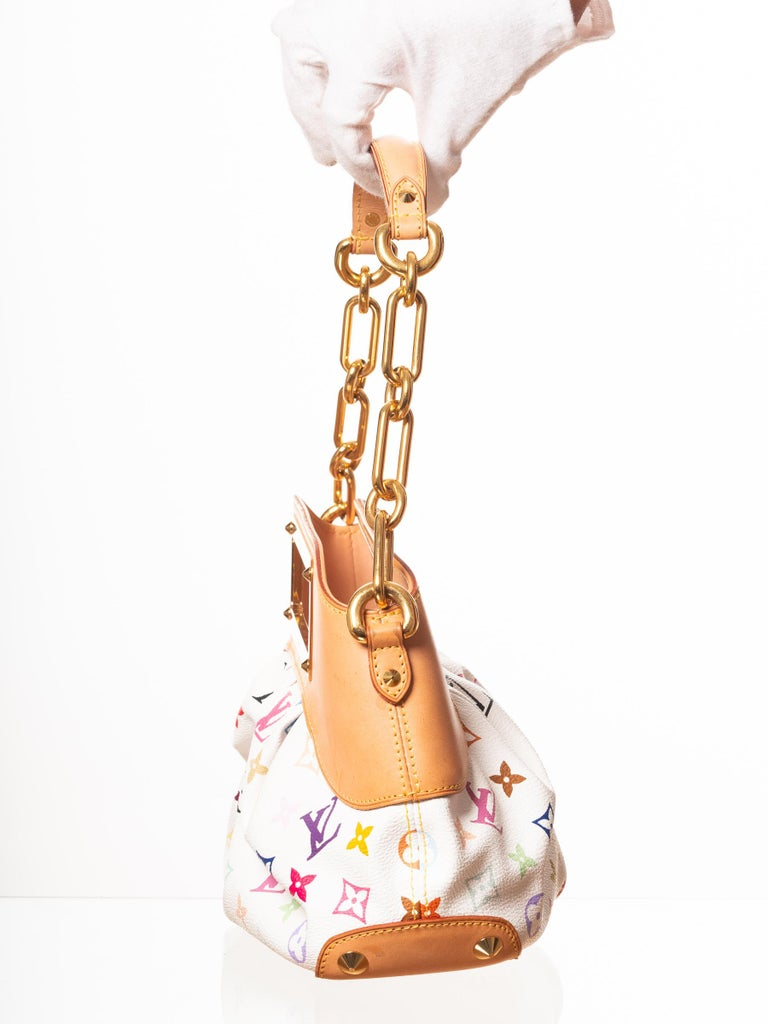 Louis Vuitton Murakami White Multicolor Monogram Judy PM Bag In Good Condition For Sale In Montreal, Quebec