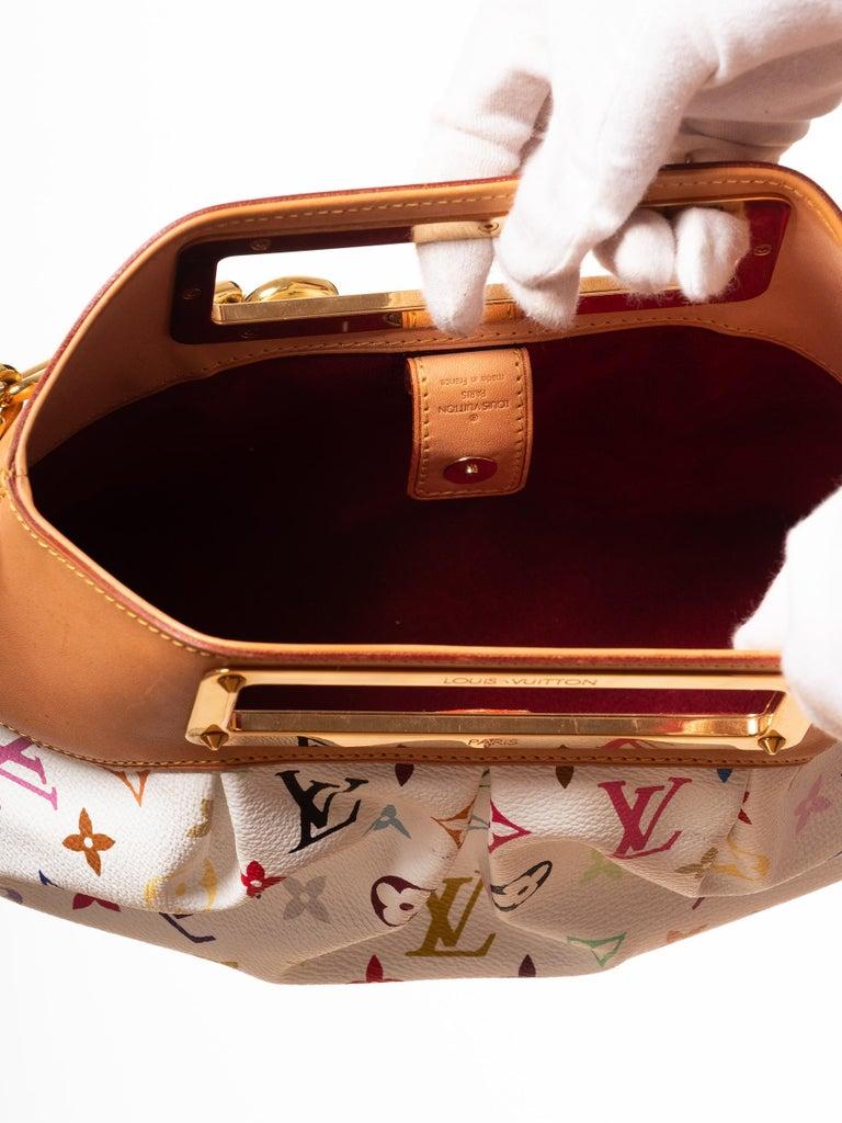 Women's Louis Vuitton Murakami White Multicolor Monogram Judy PM Bag For Sale