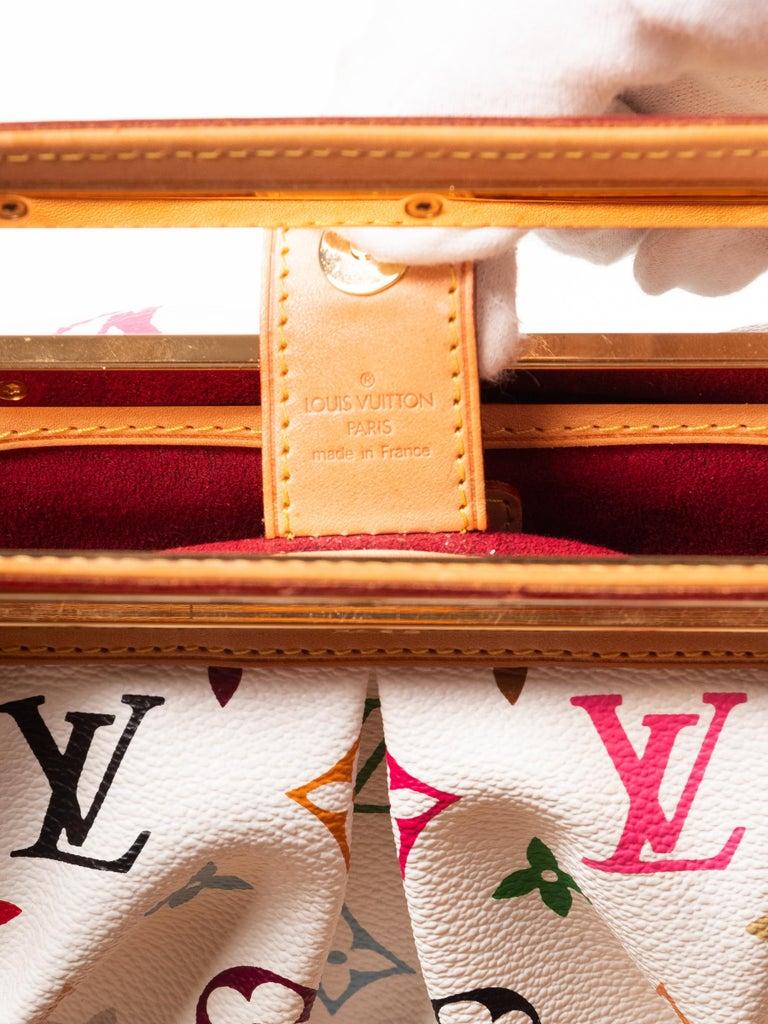 Louis Vuitton Murakami White Multicolor Monogram Judy PM Bag For Sale 1