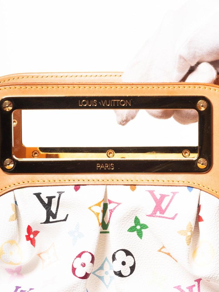 Louis Vuitton Murakami White Multicolor Monogram Judy PM Bag For Sale 3