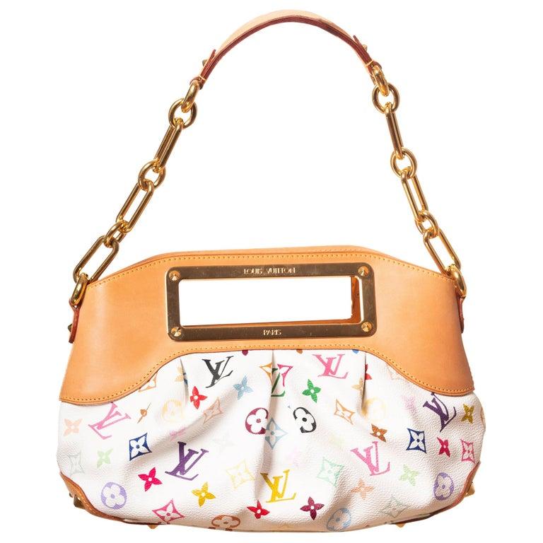 Louis Vuitton Murakami White Multicolor Monogram Judy PM Bag For Sale