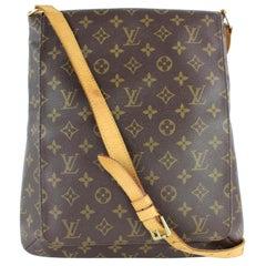Louis Vuitton Musette Salsa Gm Large Flap 14lz0130 Brown Canvas Cross Body Bag