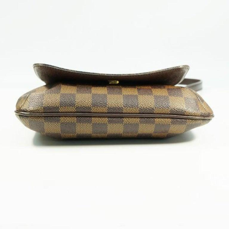 Women's LOUIS VUITTON Musette Salsa shorts Womens shoulder bag N51260 Damier ebene For Sale
