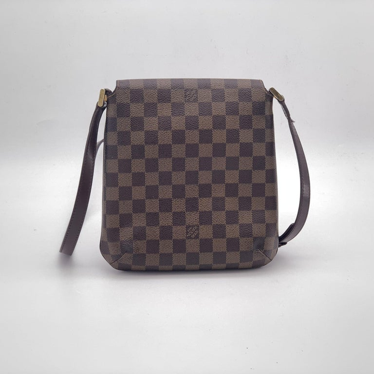 Black LOUIS VUITTON Musette Shoulder bag in Brown Leather For Sale