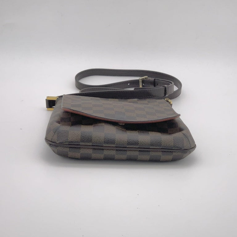 LOUIS VUITTON Musette Shoulder bag in Brown Leather In Excellent Condition For Sale In Clichy, FR