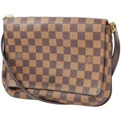 LOUIS VUITTON Musette Tango long Womens tote bag N51301 Damier ebene