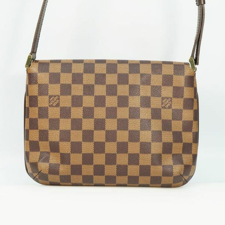 LOUIS VUITTON Musette Tango shorts Womens shoulder bag N51255 Damier ebene In Excellent Condition For Sale In Takamatsu-shi, JP