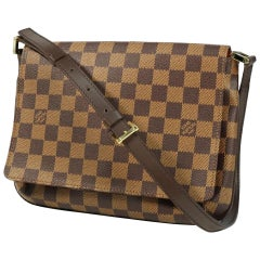 LOUIS VUITTON Musette Tango shorts Womens shoulder bag N51255 Damier ebene