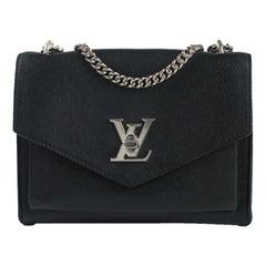 LOUIS VUITTON Mylockme chain Shoulder bag in Black Leather