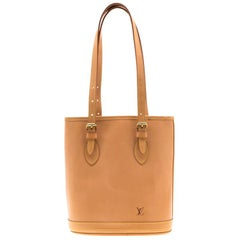 Louis Vuitton Natural Vachetta Leather Limited Edition Petit Bucket Bag
