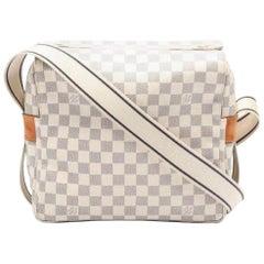 LOUIS VUITTON Naviglio Damier Azur shoulder bag PVC leather white, Cross Body