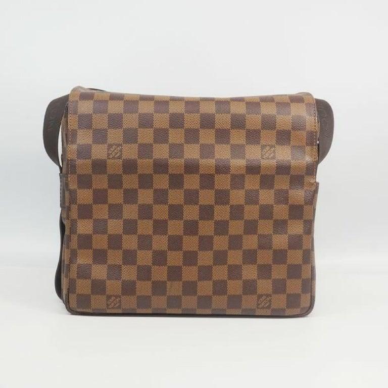 LOUIS VUITTON Naviglio unisex shoulder bag N45255 Damier ebene In New Condition For Sale In Takamatsu-shi, JP