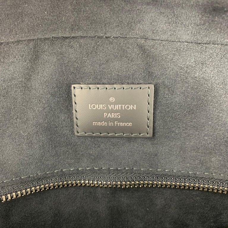 LOUIS VUITTON Navy & Blue Damier Canvas Leather Canvas Porte-Documents Bag For Sale 5