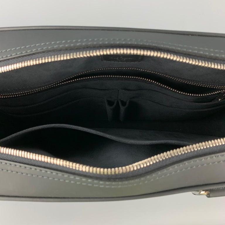 LOUIS VUITTON Navy & Blue Damier Canvas Leather Canvas Porte-Documents Bag For Sale 2