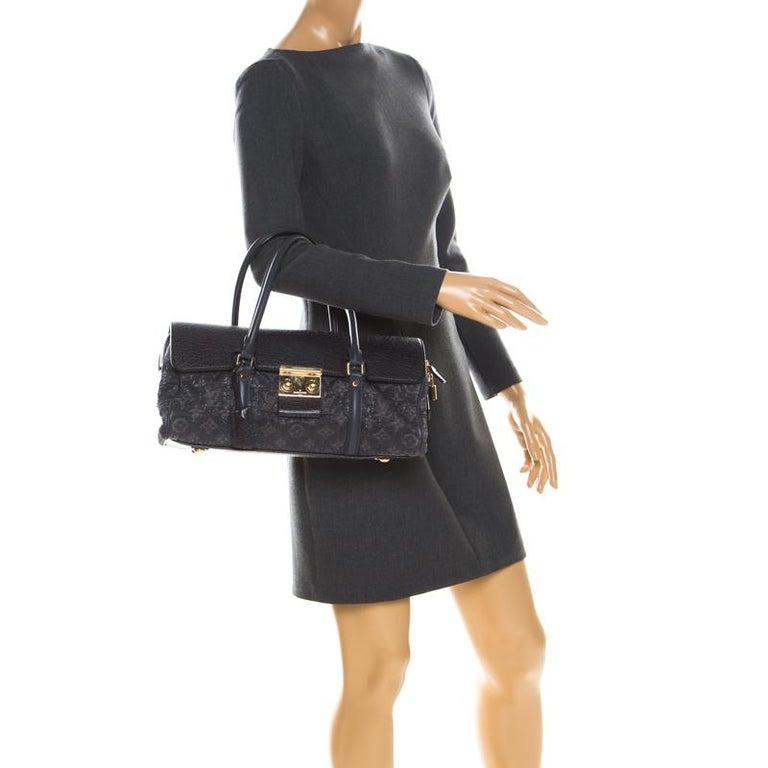 Black Louis Vuitton Navy Blue Gris Monogram Limited Edition Volupte Beaute Bag For Sale
