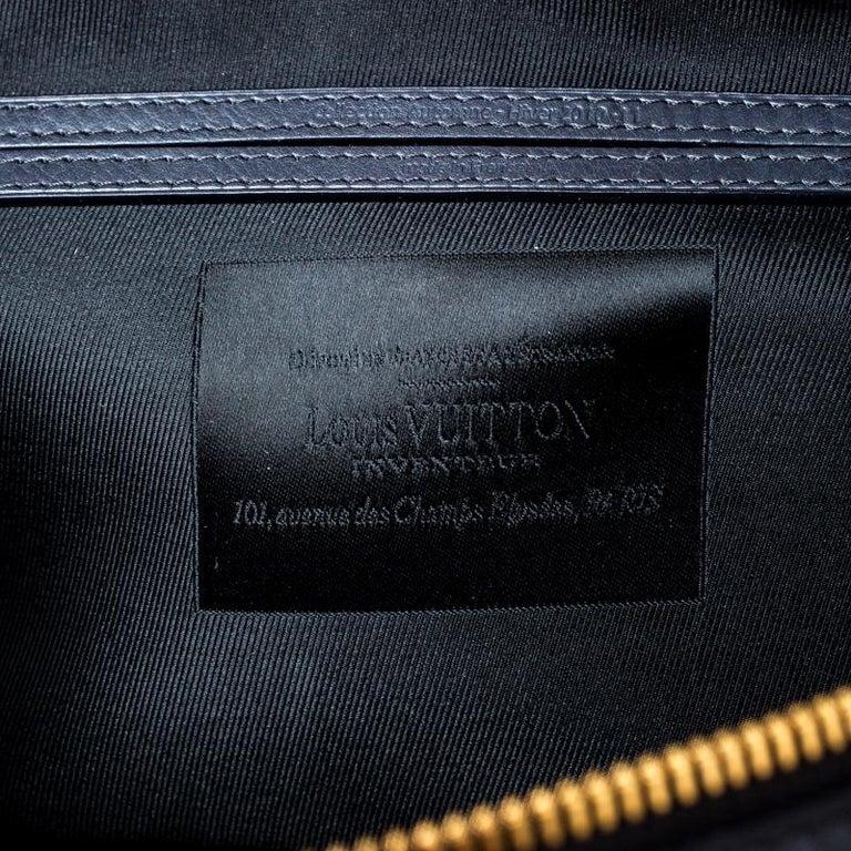 Louis Vuitton Navy Blue Gris Monogram Limited Edition Volupte Beaute Bag For Sale 1