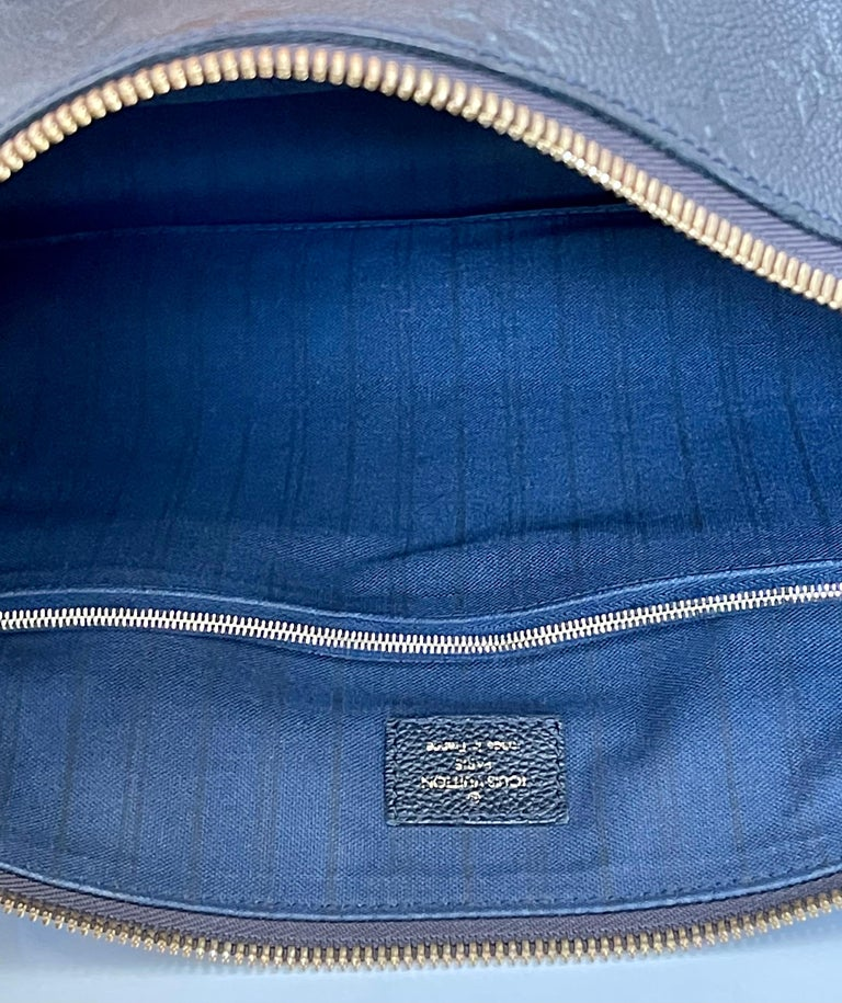 Louis Vuitton Navy Empreinte Leather Lumineuse PM Bag ,Monogram with Box and Bag For Sale 5
