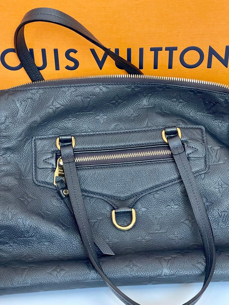 Louis Vuitton Navy Empreinte Leather Lumineuse PM Bag ,Monogram with Box and Bag For Sale 6