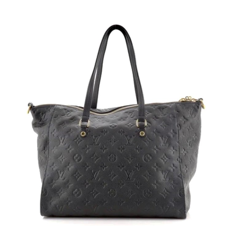 Louis Vuitton Navy Empreinte Leather Lumineuse PM Bag ,Monogram with Box and Bag For Sale 11