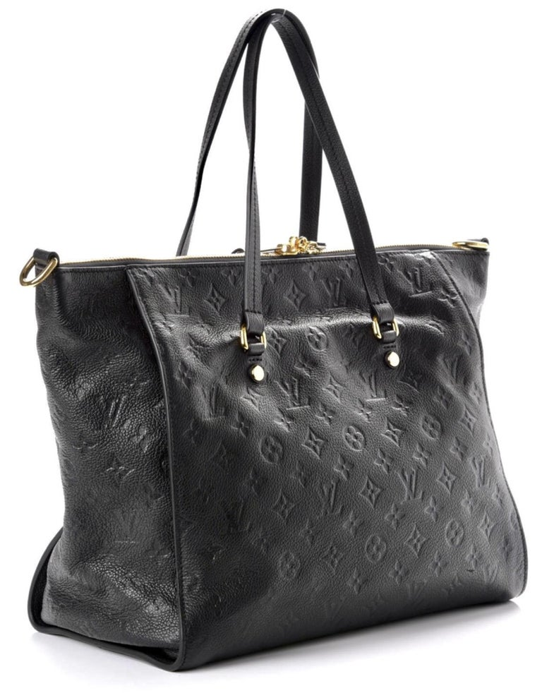 Black Louis Vuitton Navy Empreinte Leather Lumineuse PM Bag ,Monogram with Box and Bag For Sale