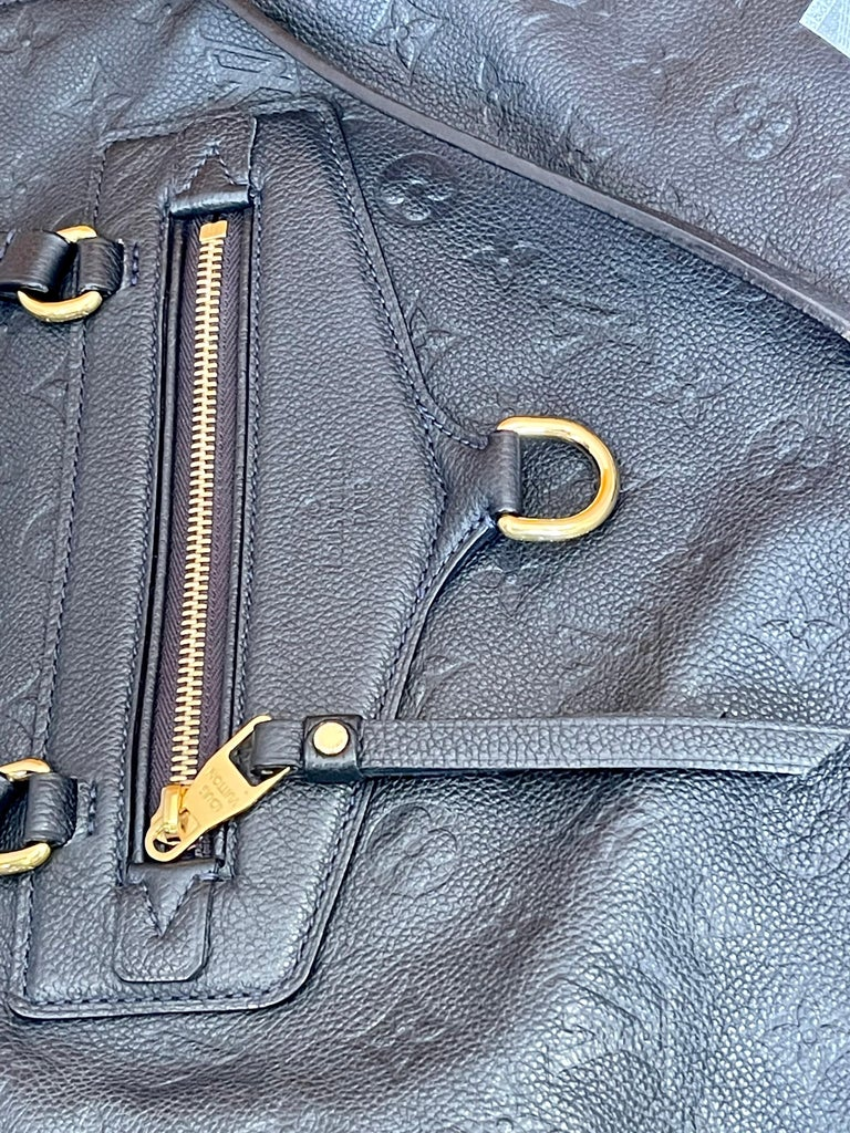 Women's Louis Vuitton Navy Empreinte Leather Lumineuse PM Bag ,Monogram with Box and Bag For Sale