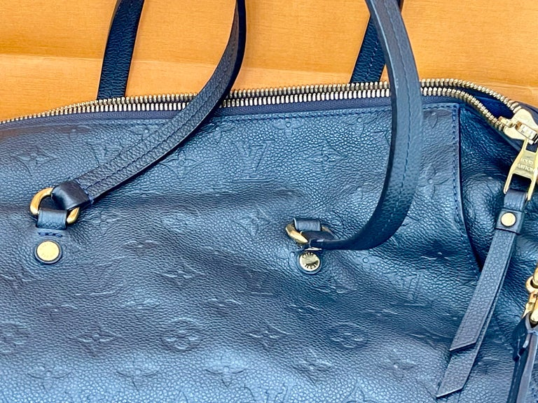 Louis Vuitton Navy Empreinte Leather Lumineuse PM Bag ,Monogram with Box and Bag For Sale 1