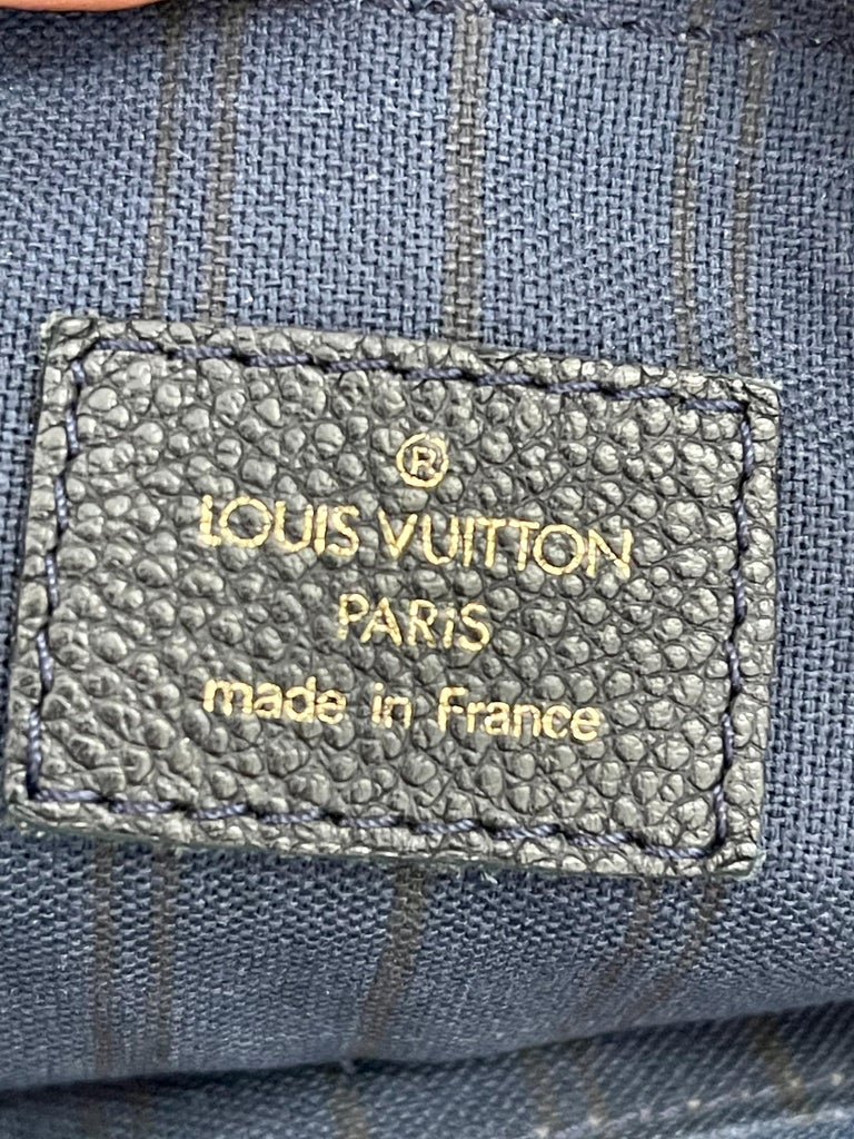 Louis Vuitton Navy Empreinte Leather Lumineuse PM Bag ,Monogram with Box and Bag For Sale 2
