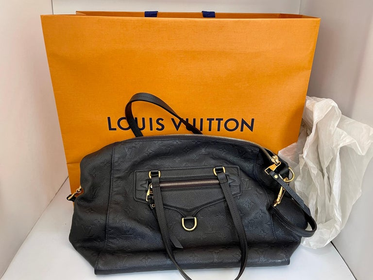Louis Vuitton Navy Empreinte Leather Lumineuse PM Bag ,Monogram with Box and Bag For Sale 4