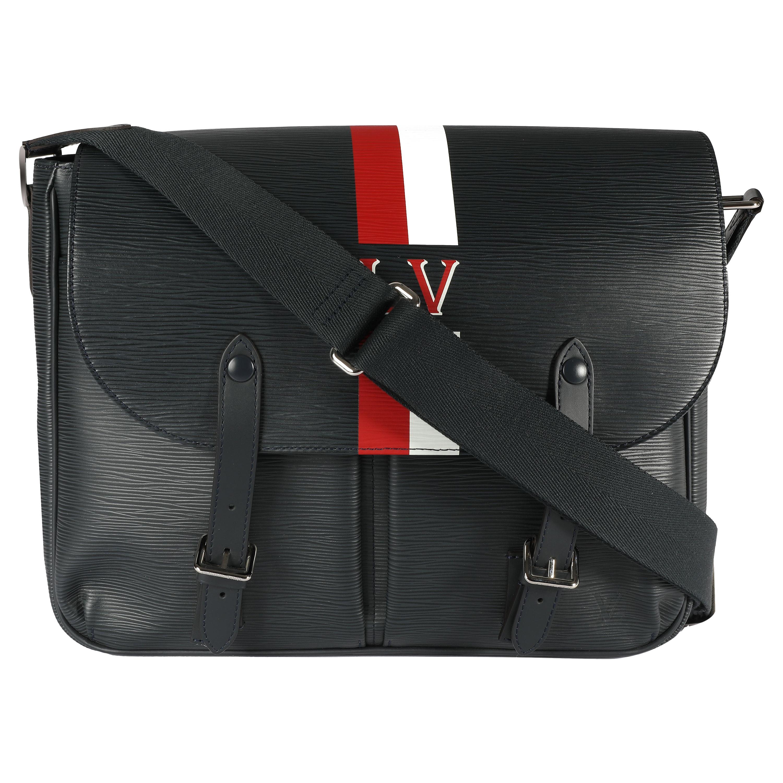 Louis Vuitton Navy Epi Leather Christopher Messenger Bag
