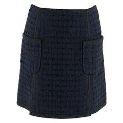 Louis Vuitton Navy Tweed Miniskirt SIZE 34