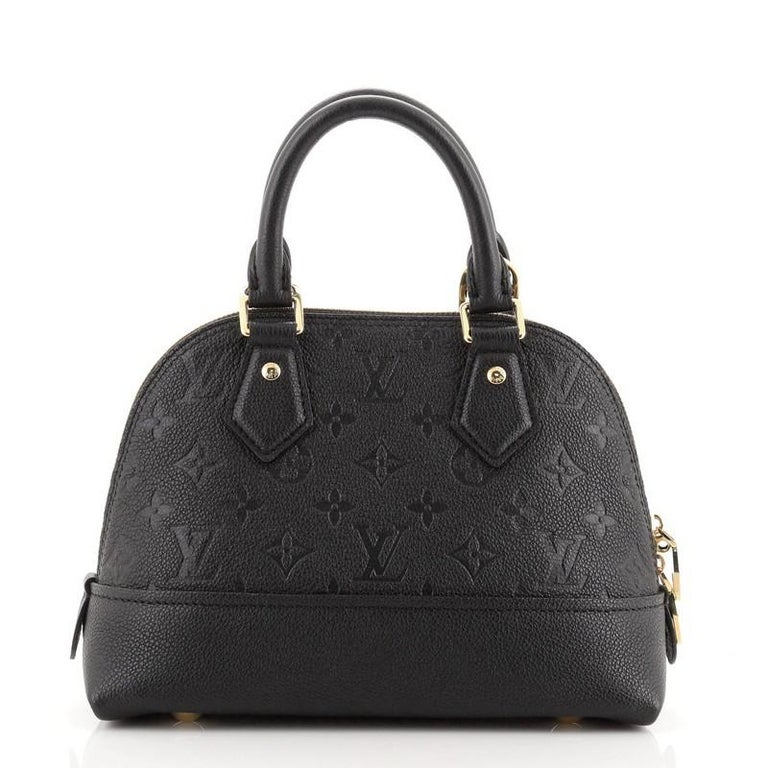 Black Louis Vuitton Neo Alma Handbag Monogram Empreinte Leather BB For Sale
