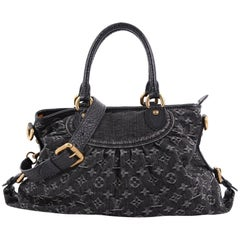 Louis Vuitton Neo Cabby Handbag Denim MM
