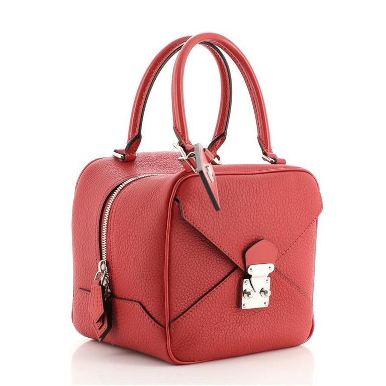 Red Louis Vuitton Neo Square Bag Taurillon Leather For Sale