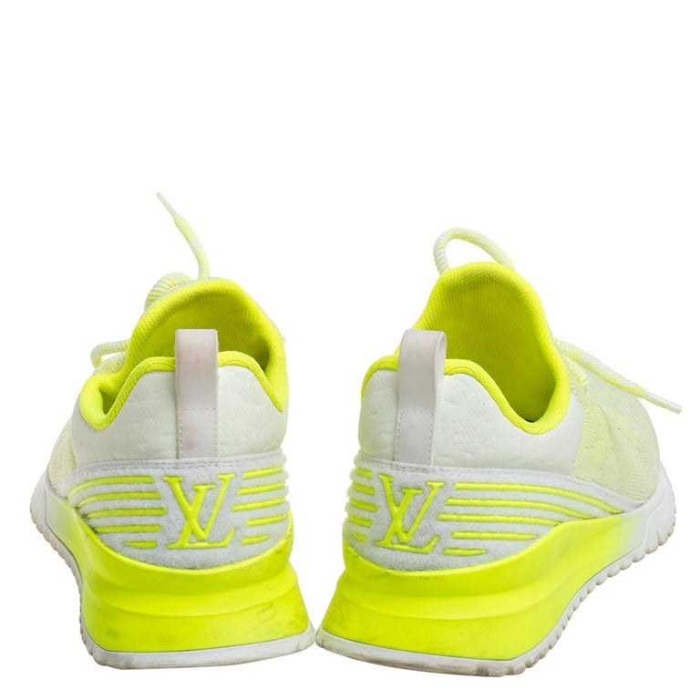 Green Louis Vuitton Neon Yellow Knit Fabric V.N.R Sneakers Size 41 For Sale
