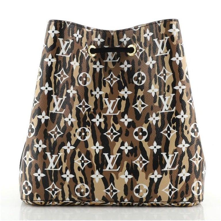 Women's or Men's Louis Vuitton NeoNoe Handbag Limited Edition Jungle Monogram Giant For Sale