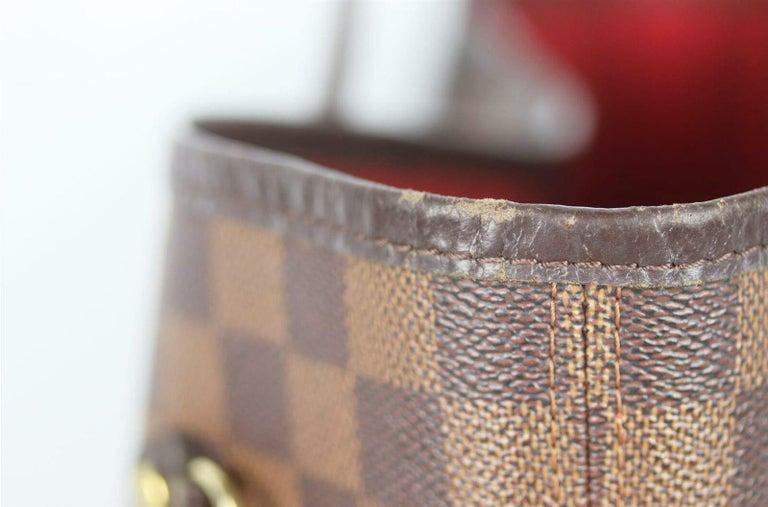Louis Vuitton Neverfall MM Damier Ebène Canvas & Leather Tote Bag For Sale 2