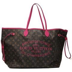 Louis Vuitton Neverfull GM Ikat Rose Voyage Limited Edition Tote Handbag