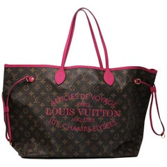 Louis Vuitton Neverfull GM Ikat Rose Voyage Limited Edition Tote Handbag