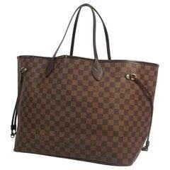 LOUIS VUITTON Neverfull GM Womens tote bag N51106 Damier ebene