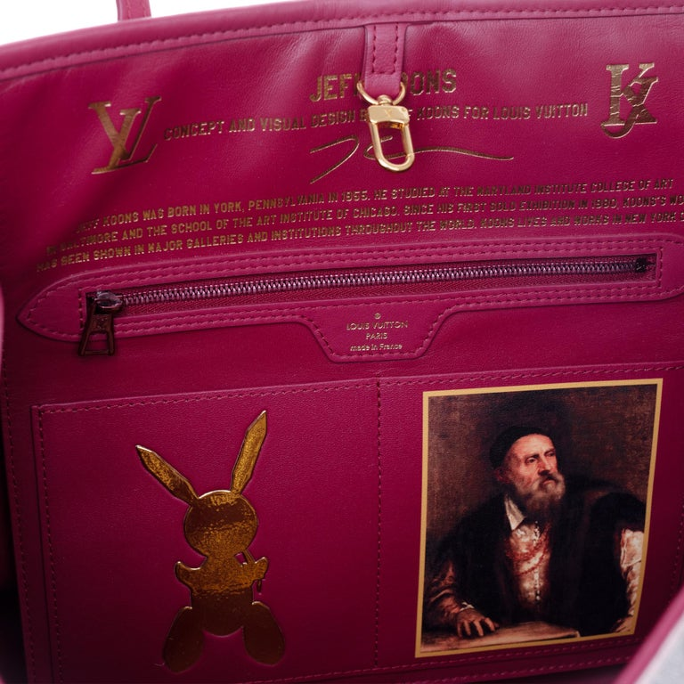 Louis Vuitton Neverfull handbag limited edition  Titian by Jeff Koons  11