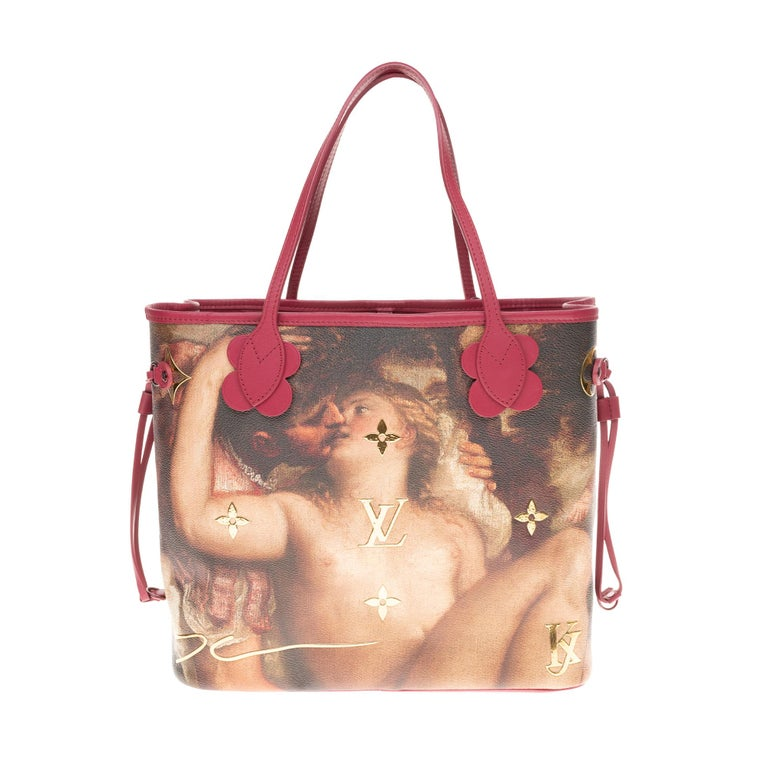 Brown Louis Vuitton Neverfull handbag limited edition  Titian by Jeff Koons