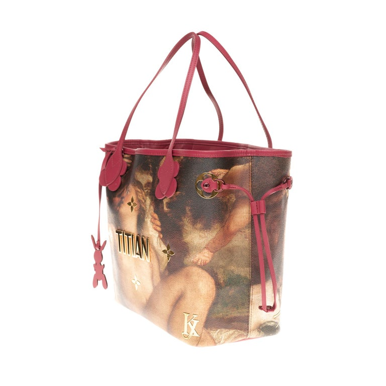 Louis Vuitton Neverfull handbag limited edition  Titian by Jeff Koons  In Excellent Condition In Paris, Paris