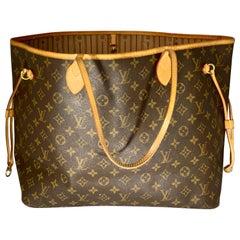 LOUIS VUITTON  Neverfull Huge Shoulder Bag Monogram  Neverfull GM Beige