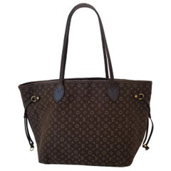 Louis Vuitton Neverfull MM Brown Monogram Idylle Tote Handbag