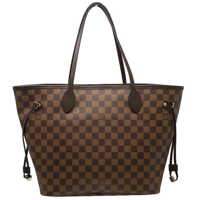Company-Louis Vuitton  Style-Neverfull MM Cherry Damier Ebene Leather Canvas Tote \ Date Code - SD4220 Outside-No rips, tears or stains Inside-No rips , tears or stains Pockets-1 pocket Interior Handles/ Straps-Strap Drop 8