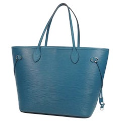 LOUIS VUITTON Neverfull MM Womens tote bag M40930 Cyan