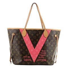 Louis Vuitton Neverfull NM Tote Limited Edition Cities V Monogram Canvas