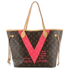 Louis Vuitton Neverfull NM Tote Limited Edition Cities V Monogram Canvas  MM