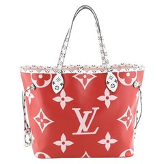 Louis Vuitton Neverfull NM Tote Limited Edition Colored Monogram Giant MM