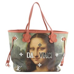 Louis Vuitton Neverfull NM Tote Limited Edition Jeff Koons Da Vinci Print